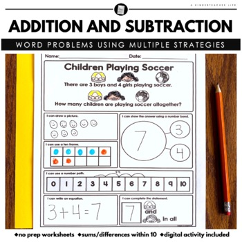 Math Word Problems - Addition and Subtraction within 20