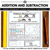 Math Word Problems - Addition and Subtraction within 10