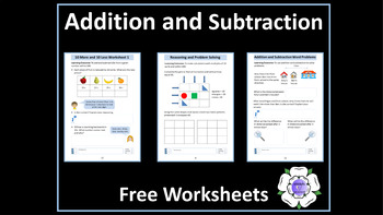 Addition and Subtraction to 100 Worksheets