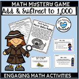 Printable 3rd Grade Addition and Subtraction Games Math Mystery