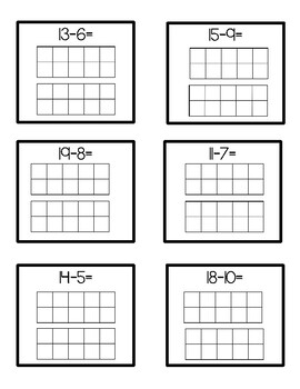Addition and Subtraction to 20 with a Ten Frame