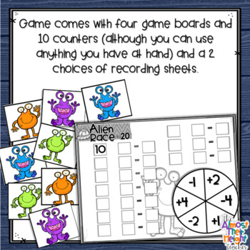 Addition and Subtraction to 20 - tens - twenty frame game
