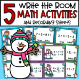 Addition & Subtraction Write the Room Math Activities 5 Sets