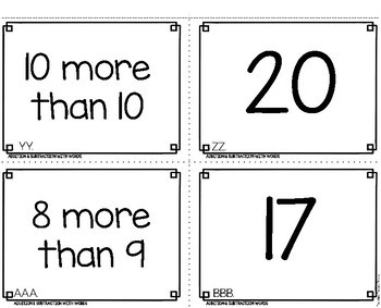 Addition and Subtraction to 20