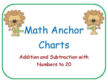 Addition and Subtraction to 20 Anchor Charts