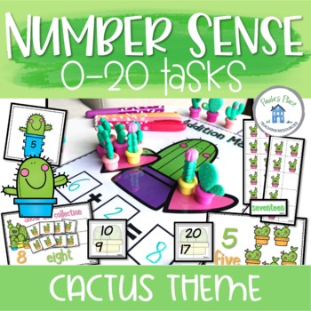 Addition and Subtraction to 20 Cactus Theme