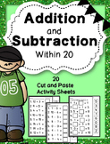 Addition & Subtraction to 20{Missing Addend,Minuend and Su