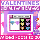 Addition and Subtraction to 20 Google Classroom | Valentine's Day