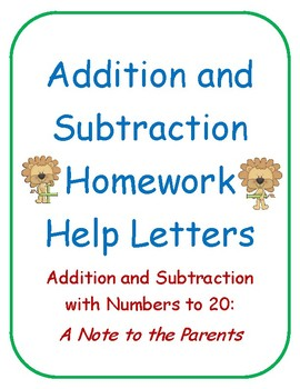 Addition and Subtraction to 20 Homework Helper