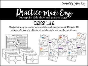 Addition and Subtraction to 20: Practice Made Easy: TEKS 1.3E, 1.0A.C6