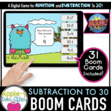 Addition and Subtraction to 30 -  Digital Task Cards for B