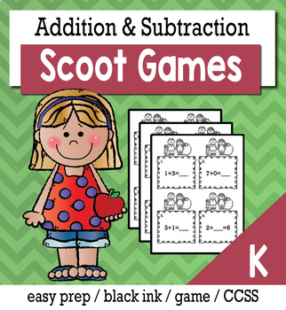 Addition and Subtraction to 5 or 10 - Scoot Game/Task Cards