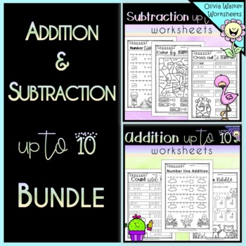 Addition and Subtraction to 10 - Bundle! Add to Ten Worksheets