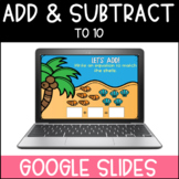 Addition and Subtraction to 10   Google Slides