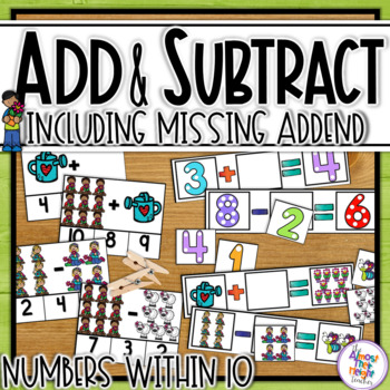 Addition and Subtraction to 10 (includes Missing Addend) - Spring themed