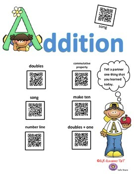 Addition and Subtraction using QR Codes
