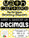 Addition and Subtraction with Decimals: 10 Print and Go Ma