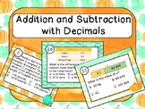 Addition and Subtraction with Decimals Task Cards