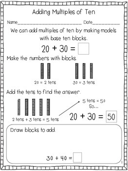 Addition and Subtraction: Multiples of Ten
