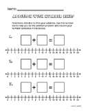 Addition and Subtraction with Number Lines Worksheets