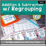 Addition and Subtraction with Regrouping: 2-3 digit numbers {Task Cards}