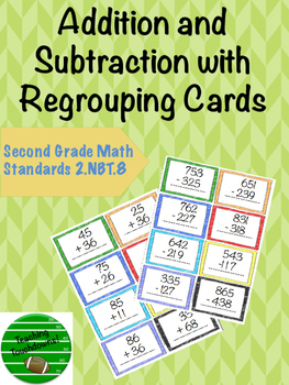 Addition and Subtraction with Regrouping Cards