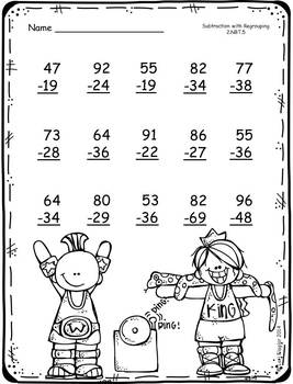 FREEBIE-Addition and Subtraction with Regrouping Printables by Lori ...
