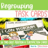 Addition and Subtraction with Regrouping Word Problem Task Cards
