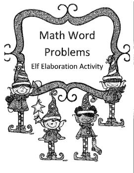 Christmas Addition and Subtraction with Regrouping Word Problems Activity