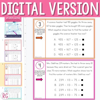 Addition and Subtraction with Strip Diagrams, Number Lines, and Equations