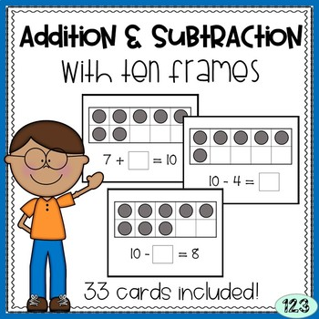 Addition and Subtraction to 10 - with ten frames and equations