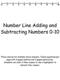 Addition and Subtraction with a number line