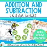 Addition and Subtraction Games with and without Regrouping
