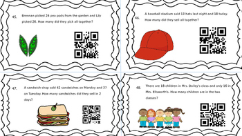 Addition and Subtraction with and without regrouping with QR Codes