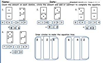 Addition and Subtraction with dominos