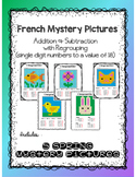 Addition and Subtraction using (1-18) - French Mystery Pictures