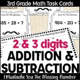 Addition and Subtraction (with regrouping) Task Cards