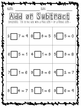 Addition and Subtraction (within 10)
