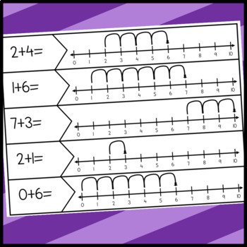 Addition and Subtraction within 10 Number Line Puzzles
