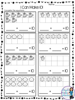Addition and Subtraction within 10 Printables