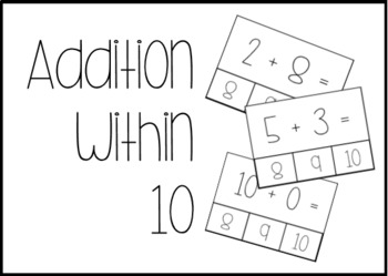 Addition and Subtraction within 10 Task Box Activities #btsfresh