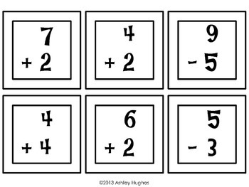 Addition and Subtraction within 10 Task cards