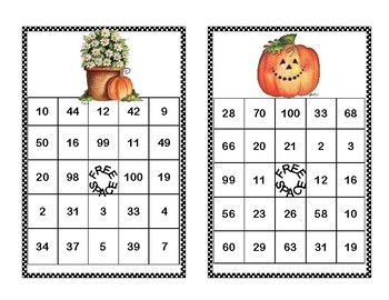 Addition and Subtraction within 100- Bingo-Autumn Theme