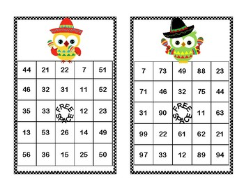 Addition and Subtraction within 100- Bingo-Cinco de Mayo Theme