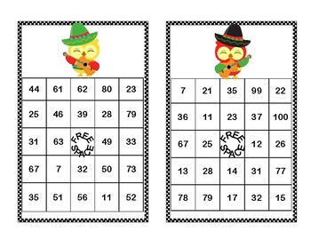 Addition and Subtraction within 100- Bingo-Cinco de Mayo Theme