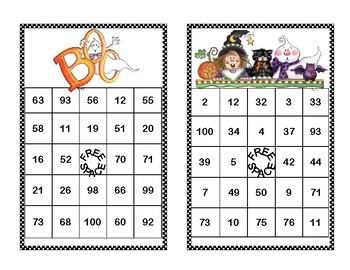 Addition and Subtraction within 100- Bingo-Halloween Theme
