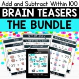 Addition and Subtraction within 100   Logic Puzzles Bundle