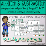 Addition and Subtraction within 20 Task Cards
