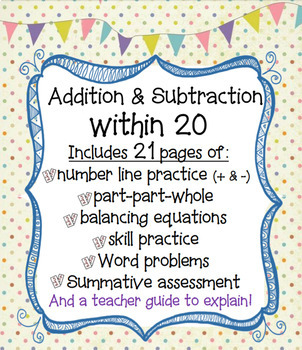 Addition and Subtraction within 20 - Complete Packet