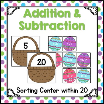 Addition and Subtraction within 20 {Easter Edition}